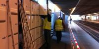 Het verhuizen van lockers op diverse stations in Nederland